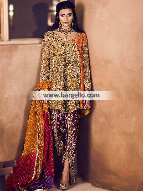 Angrakha Style Dresses USA Miami Florida Designer Angrakha Style Dress Designs