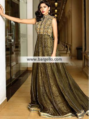 Sparkling Party Wear Pakistan Glasgow Scotland Anarkali Style Party Wear Pakistani