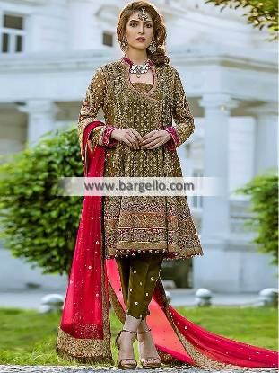 Designer Angrakha Style Party Dresses Ithaca New York NY USA Formal Angrakha Dresses Pakistan