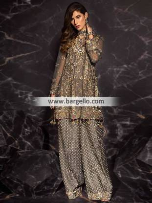 Pakistani Designer Evening Dresses Detroit Michigan USA Mahgul Wedding Party Dresses