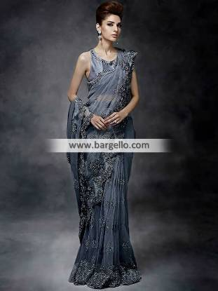 Pakistani Designer Saree for Formal Events Saree for Wedding Events