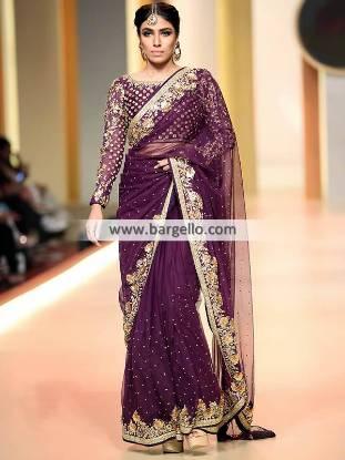 Pakistani Designer Bridal Saree Birmingham UK Yasmeen Zaman Saree Shops Online UK