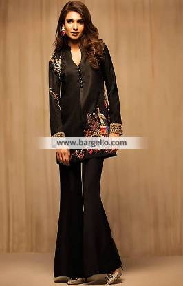 Black Color Evening Dress Pakistani Designer Evening Dresses Juffair UK