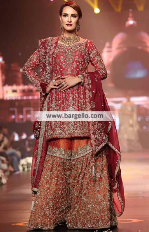 Asian Bridal Dresses Asian Bridal Gharara Dresses Surrey UK