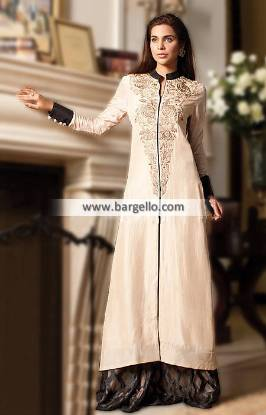 Pakistani A-Line Party Wear Netherlands Flared Sharara Party Wear Gul Ahmed Pret Collection 2014