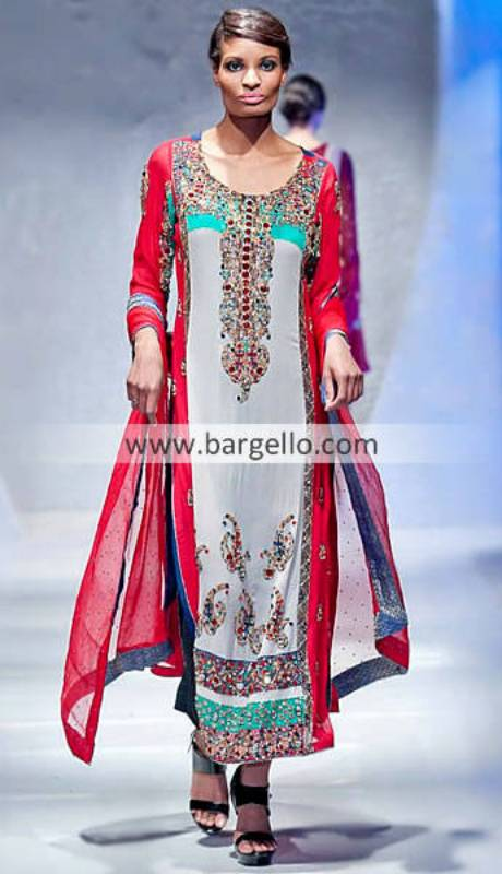 Colorful Collection by Renowned Designer Waseem Noor at Pakistan Fashion Week London UK