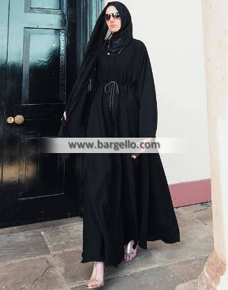 Black Flared Abaya Luasanne Switzerland Beautiful Jilbab