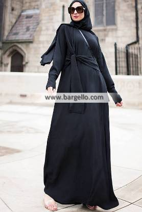 Anneka Tie-front Abaya Switzerland Indian Jilbab