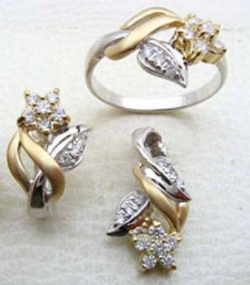 Silver 24kt Gold Western High Fashion Evening Set
