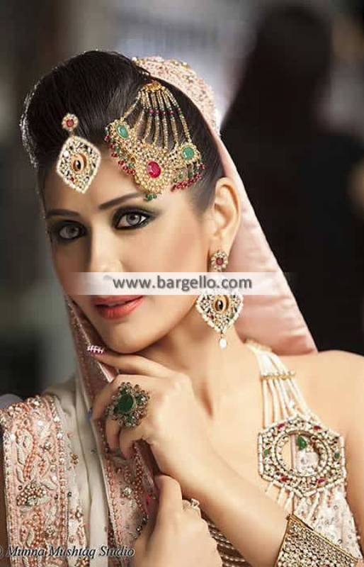 Alluring Asian Bridal Jewellery New Jersey USA Anum Yazdani Gold Plated Jewellery Sets
