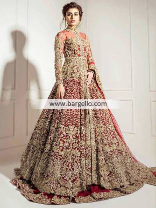 Luxurious Bridal Lehenga Wichita Kansas USA Arabic Wedding Dresses