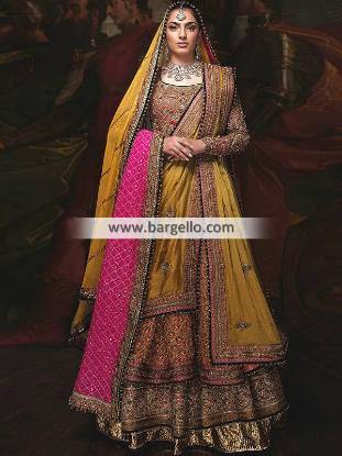 Luxurious Bridal Lehenga Houston Texas TX USA Latest Pakistani Designer Lehenga
