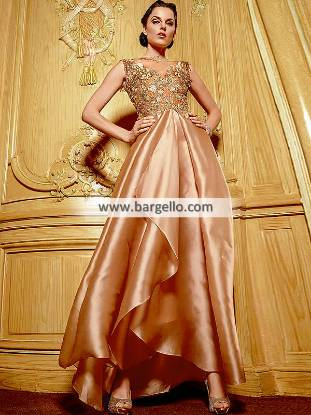 Waterfall Gowns Pakistani Party Dresses Special Occasion Dresses