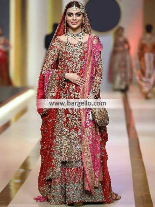 Classic Wedding Gharara Springfield Washington USA Bridal Gharara Collection