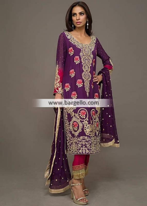 Exclusive Pakistani Evening Wear Atlanta Georgia USA for Wedding or Formal Party Wear