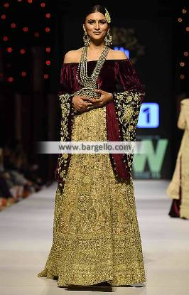 Pakistani Wedding Lehengas Collection 2016 Shehla Chatoor Wedding Dresses