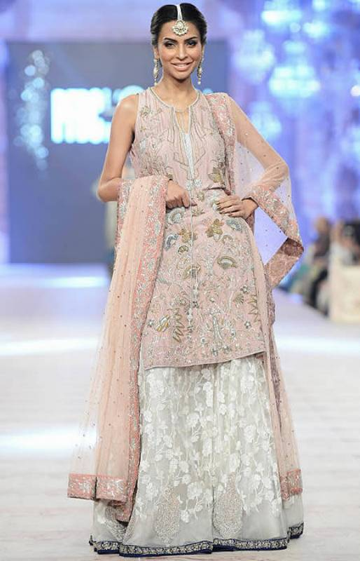Flattering Sharara Dress Pakistani Lehenga Dress Engagement Dress Nida Azwer PFDC 2014