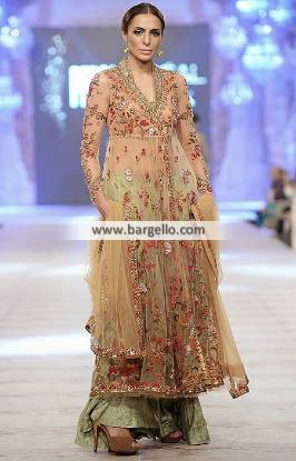 Pakistani Angrakha Outfit Wedding Guest Outfit Misha Lakhani Bridal Collection PFDC 2014