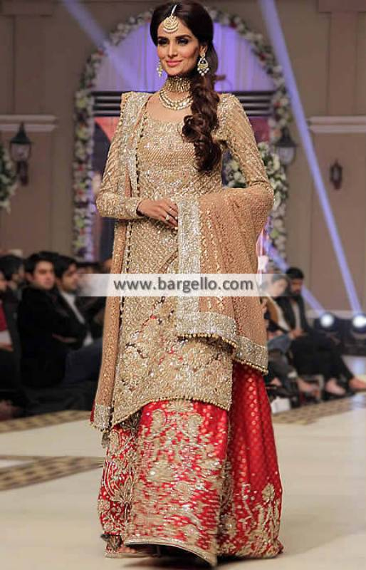 Faraz Manan Bridal Wear Rouge Bridal Sharara Bridal Couture Week TBCW