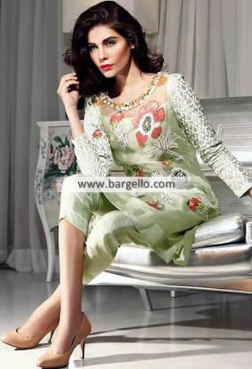 Casual Dresses Pakistan Semi Formal Dresses with Cropped Trouser