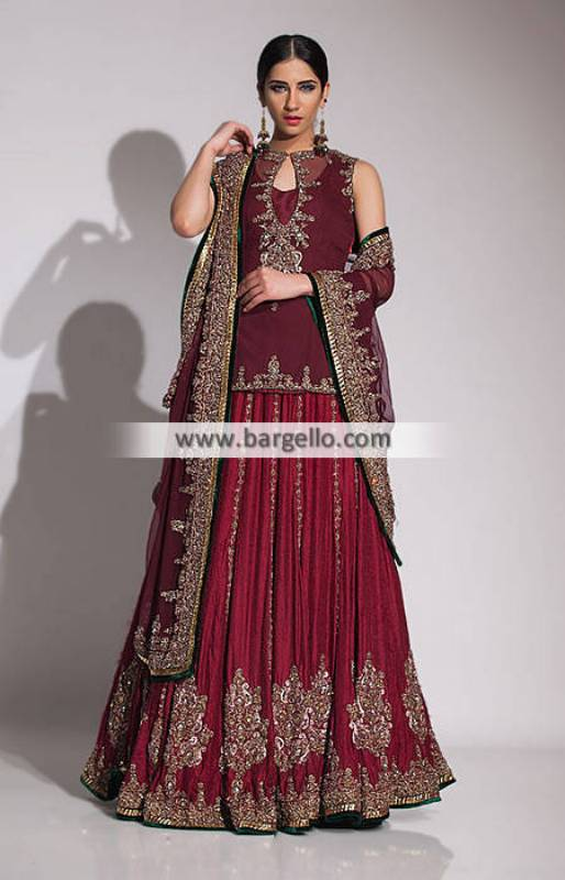 Fahad Hussayn Bridal Sharara Collection Bridal Dresses with Sharara UK USA Canada Australia