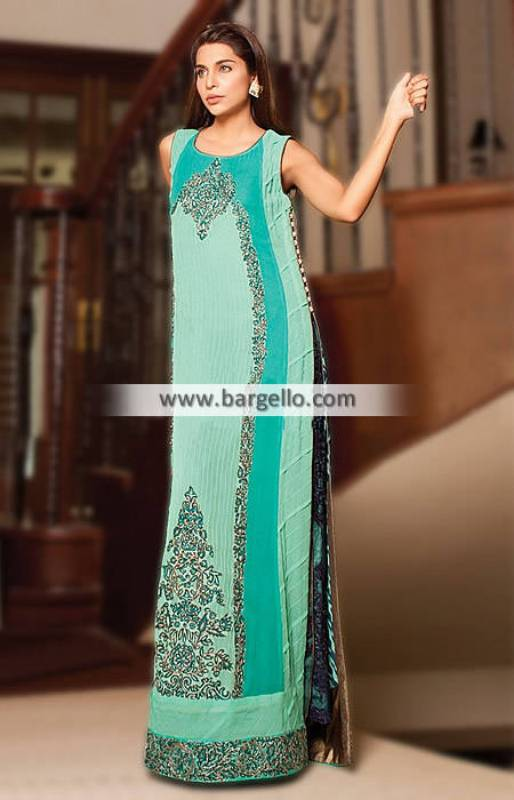 Pakistani Party Wear Dresses Maxi Style Long Formal Party and Occasional Wear
