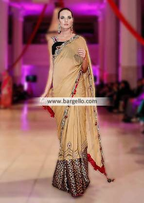 Charisma Gorgeous Designer Saree for Formal Party Special Occasions London UK IBFJW 2013
