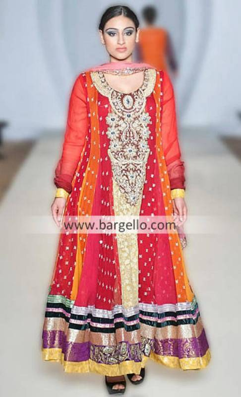 Deepak Perwani's Hot and Latest Anarkali Outfits For Evening Occasions at PFW London UK