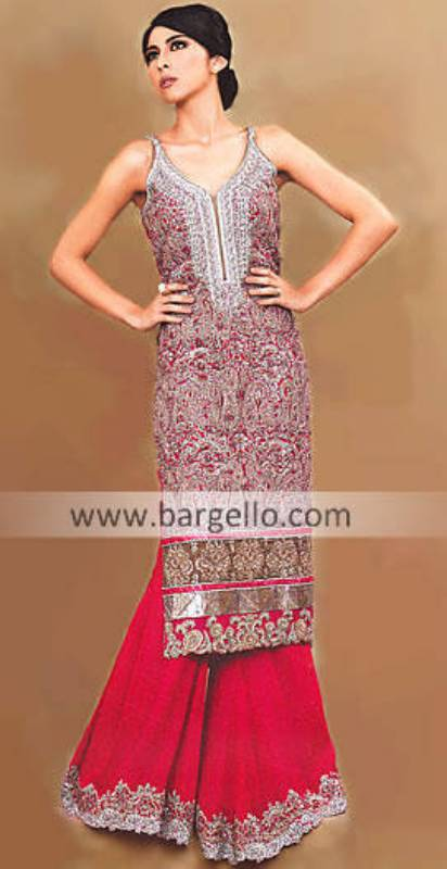 Embellished Special Occasions Sharara Trousers Pakistani Sharara in USA UK Canada