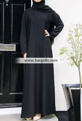 Casual Abaya Black Cheltenham London UK Pakistani Women Jilbab