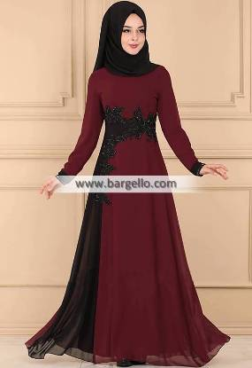 Burgundy Gypsophila Madison Heights Michigan MI US Designer Women Jilbab