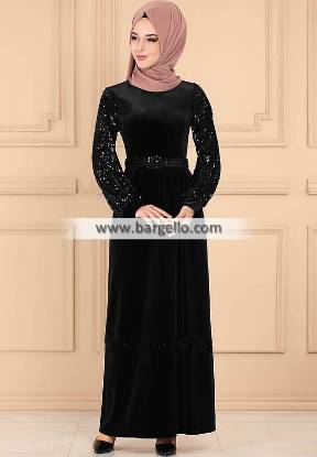Black Snapdragon Westford Massachusetts USA Embroidered Jilbab