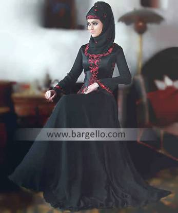 Jilbab Abaya UK, Black Jilbab UK, Latest Jilbabs Designs, Embroidered Jilbab, Islamic Fashion Abaya