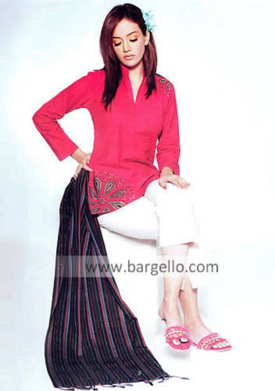 Cerise Pink Casual Trouser Suit Hand Embellished Online Retail Outlet Store