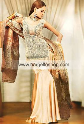 Dorato Heavily Embellished Bridal Gharara, Shirt and Dupatta
