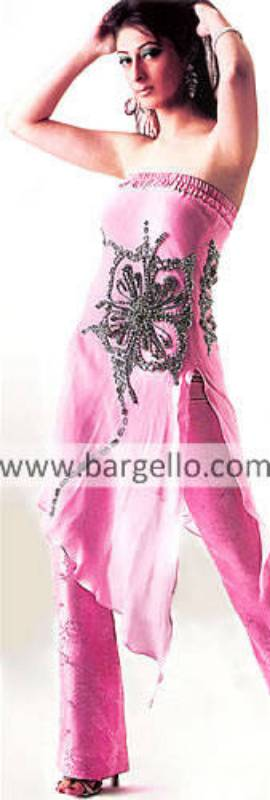 Disco Pink Butterfly Emellished Handkerchief Dress