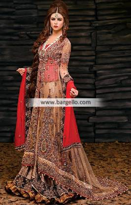 Glorious Bridal Dress for Wedding with Beautiful Stone Work Wedding Sharara Dress