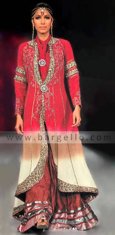Lehenga Lengha Choli, Pink Bridal Gharara, Pink Wedding Outfit, Bridal Couture Week 2010 Collection