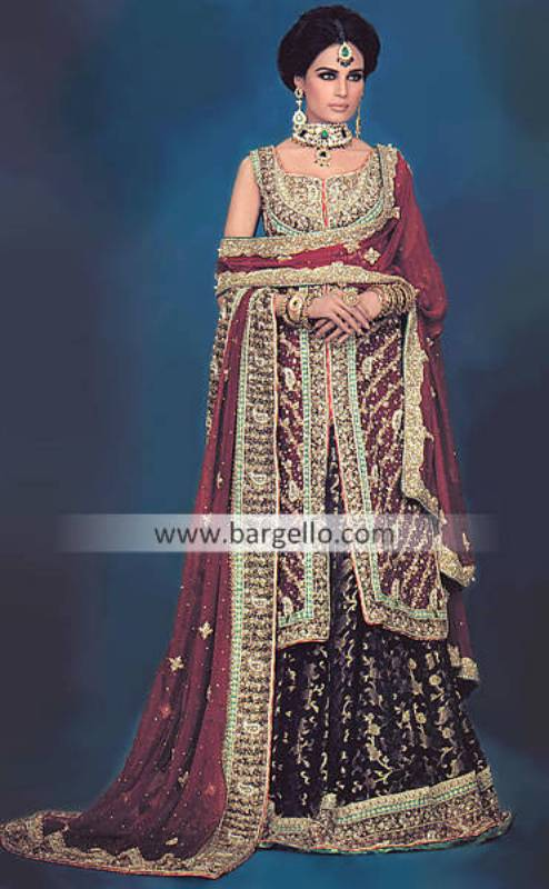 Designer Embroidered Lehenga, Chiffon Embroidered Lehengas, Party Lehengas Choli Pakistan
