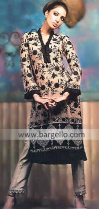Latest Long Shirts With Trousers Designs, Long Kameez with Trouser, Long Shirt, straight pant