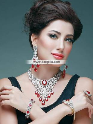 Diamond Like Jewellery Sets, Buy Pakistani Designer Jewellery Sets, zircon set, aritificial jewellery