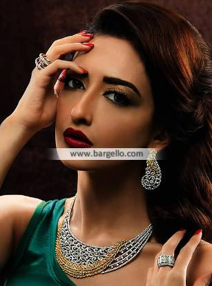 Majestic Diamond and Gold Necklace Top Set Muscat Oman Jewellery Sets online
