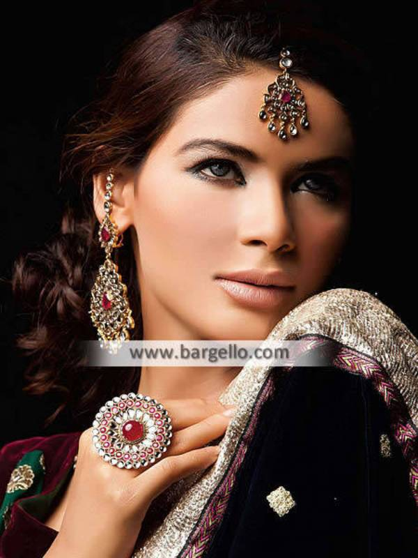 Pakistani Fashion Kundan Ruby Jewellery Sets Chesapeake Virginia VA US