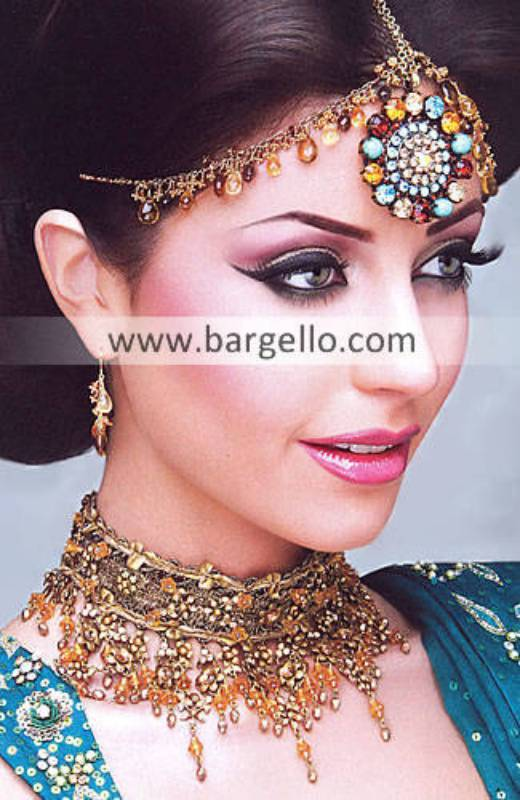 Pakistan Gold Plated Jewellery, Choose Quality Pakistan Gold Plated Jewelry with Fancy Stones