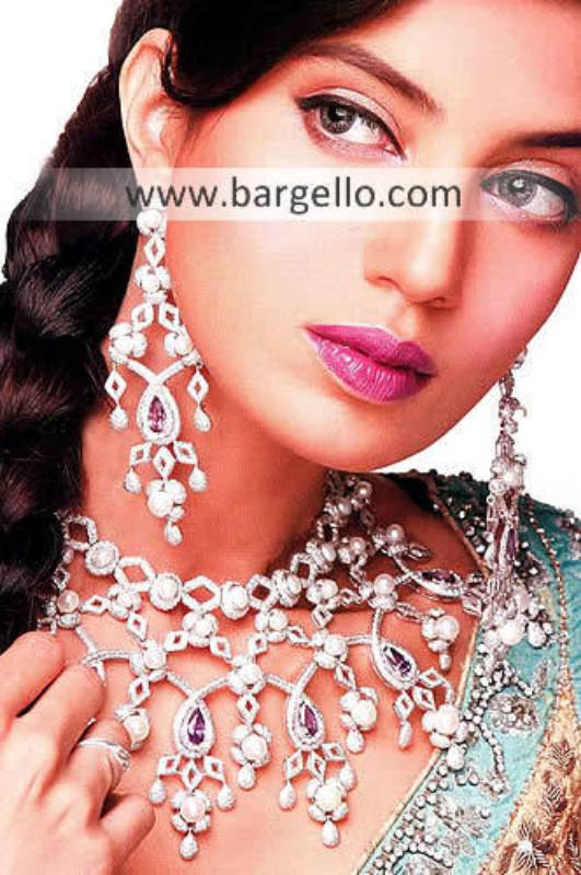 Pakistani Fashion Jewelry, Indian Pakistan Garnet Emerald Ruby Jewelry, Semi Precious Stone Jewelry