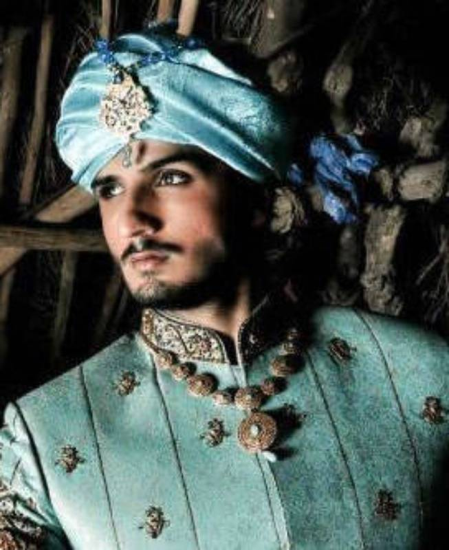 Turquoise Sherwani Turban For Men New York City, Turquoise Turban Sherwani For Groom Santa Clara CA