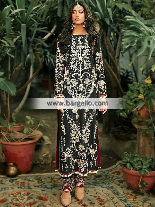 Pakistani Party Wear, Party Wear Suits, Pakistani Party Wear Norfolk, Pakistani Party Wear Virginia, Pakistani Party Wear USA, Long Shirt and Pajama Suits, Ali Xeeshan Party Wear